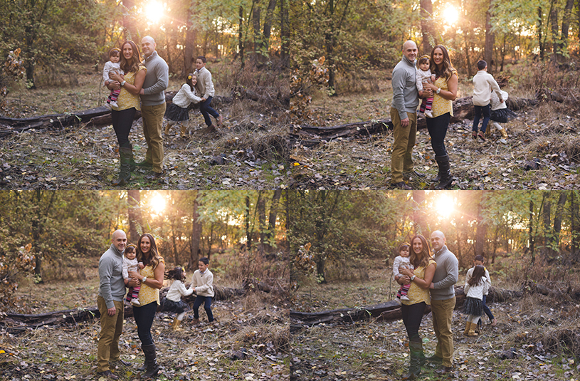 cozy fall family portrait lifestyle session in Ripon california at sunset by nicole monique photography