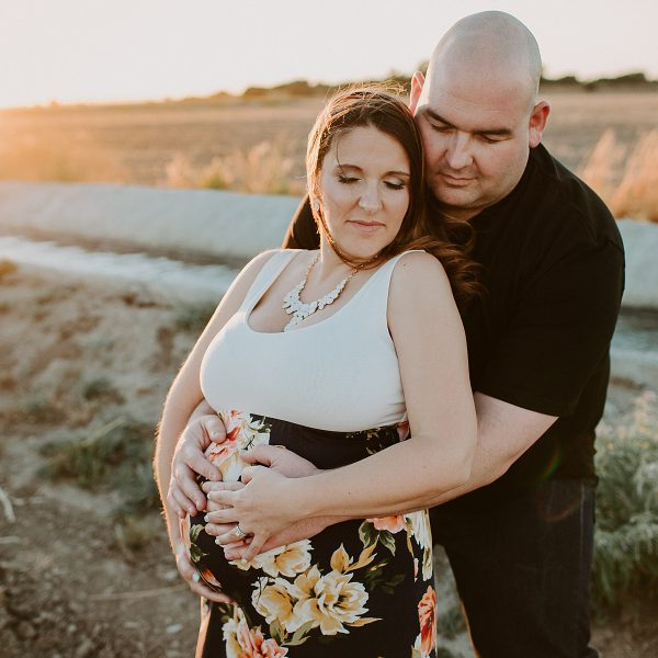 Megan & Dan's Downtown Sunset Maternity Session - Tracy, Ca