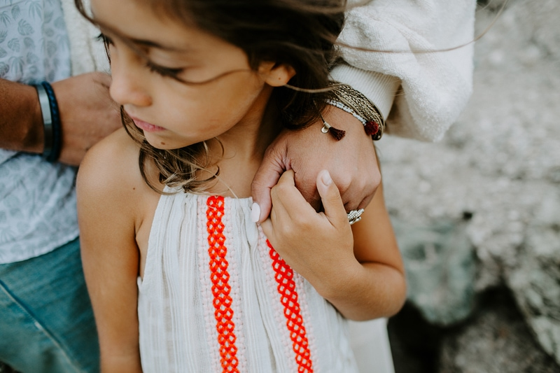 Family Photography, little girl holding mother's hand
