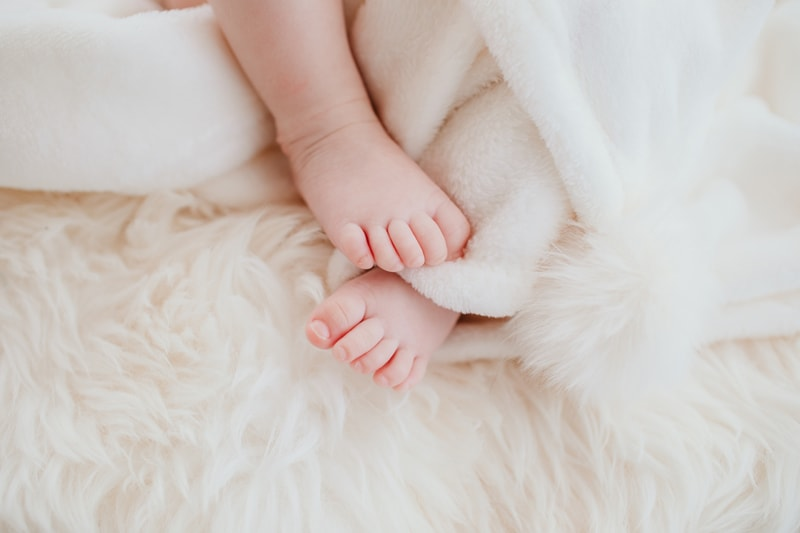 Baby Photography, close up of little baby's feet